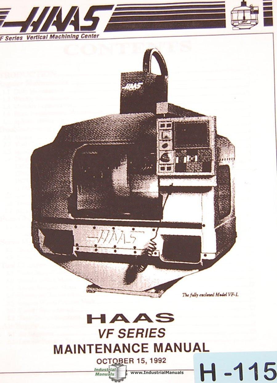 Haas VF VMC, Programming Maintenance and Assembly Manual