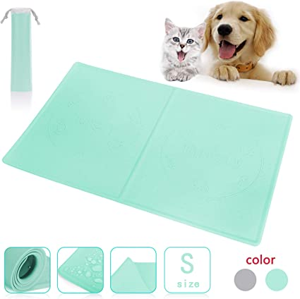 Amazon Com Fun Meows Silicone Dog Cat Pet Food And Water Mats