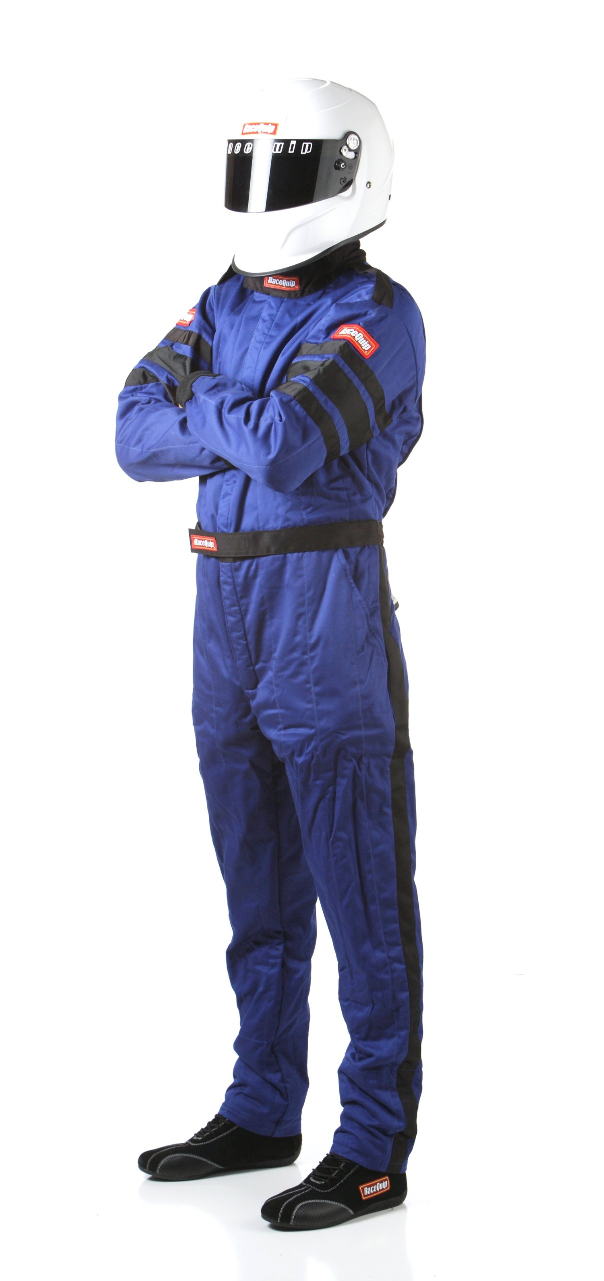 RaceQuip 120024 120 Series Tall Medium Blue SFI 3.2A/1 Multi-Layer One-Piece Driving Suit