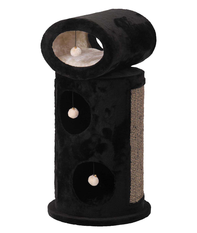 Nobby Tall Plush Cat Scratcher Mageli, 45 cm, Black