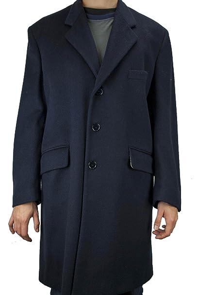 No brand Cappotto 3 4 Uomo 50 L Blu Scuro Panno Lana Misto Cashmere  3Bottoni - Aladino - Blu 38db5a2ce85