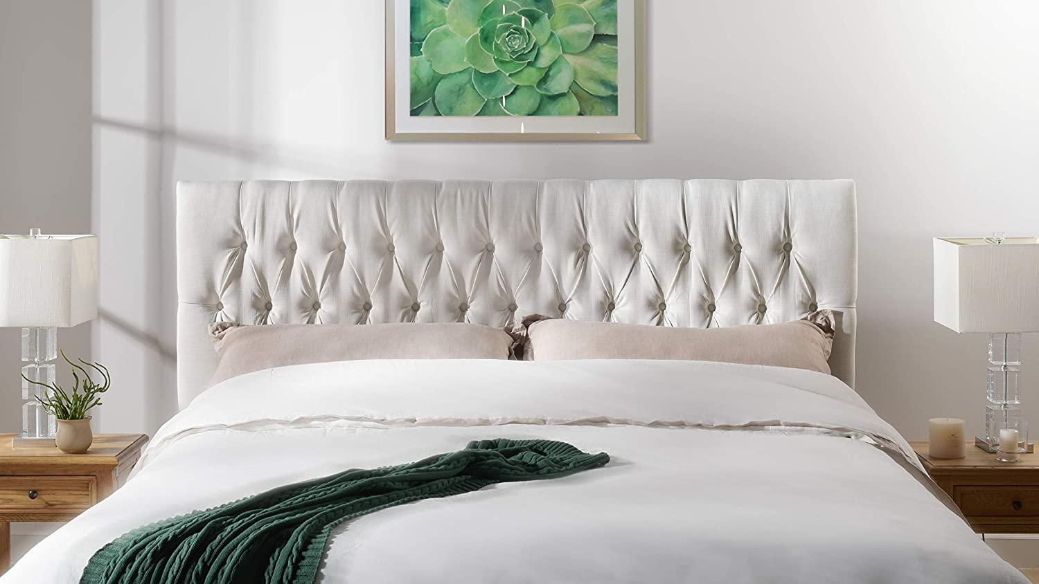 Jennifer Taylor Home Maya Headboard, King, Antique White