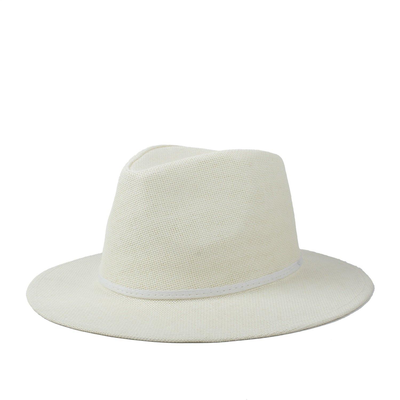 GR Sombrero Fedora de Sombrero de Paja a Mano de Verano de Gato de Panamá  Sombrero de Paja Fedora (Color   Natural 937f75b6772