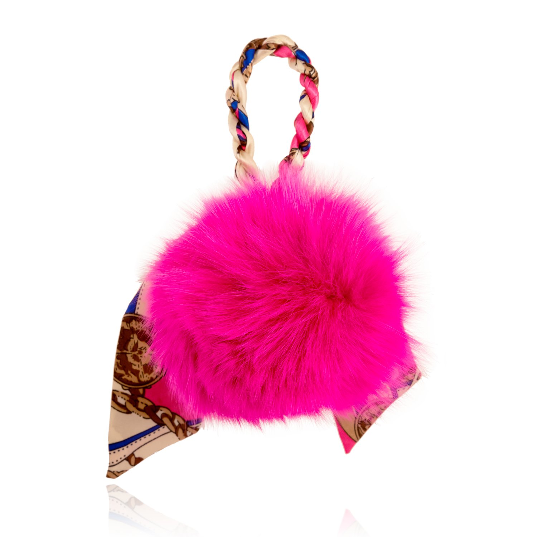 aa8dcedd95b1 Amazon.com  I s Fashion Jewelry Fluffy Rabbit Fur Ball Pom Pom Keychain for  Women Backpack Charms Key Ring  Clothing