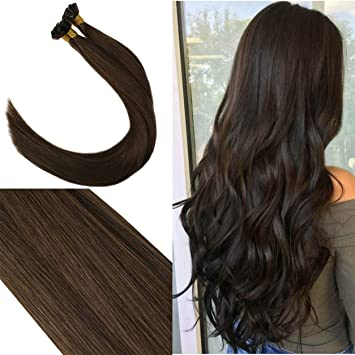 Amazon.com   Youngsee 24 Inches 100% Remy Keratin U Tip Human Hair  Extensions Dark Brown  4 Straight Human Hair Keratin Bond Hair Extensions  50g   Beauty b99a4e8698