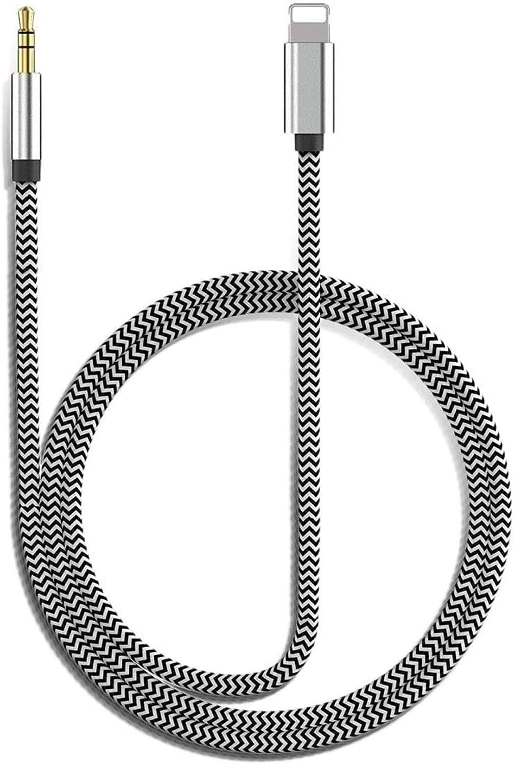 [Apple MFi Certified] Lightning to 3.5mm AUX Audio Nylon Braided Cable, iPhone AUX Cord for Car Stereo for iPhone 11/11 Pro/XS/XR/X 8 7 6/iPad/iPod to Car/Home Stereo, Speaker, Headphone (3.3FT/1M)