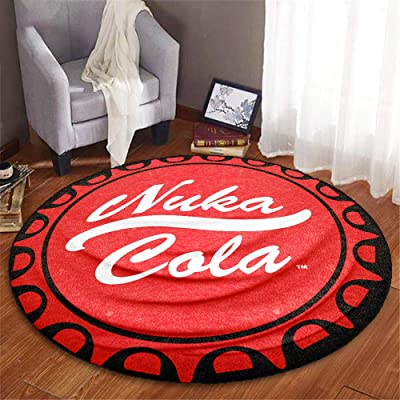 Fallout Nuka Cola Round Fleece Blanket, Red, 48 inches, by JustFunky: Home & Kitchen