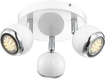 Plafoniera Globo Lighting : Globo deckenleuchte metall led watt retro wei wandstrahler