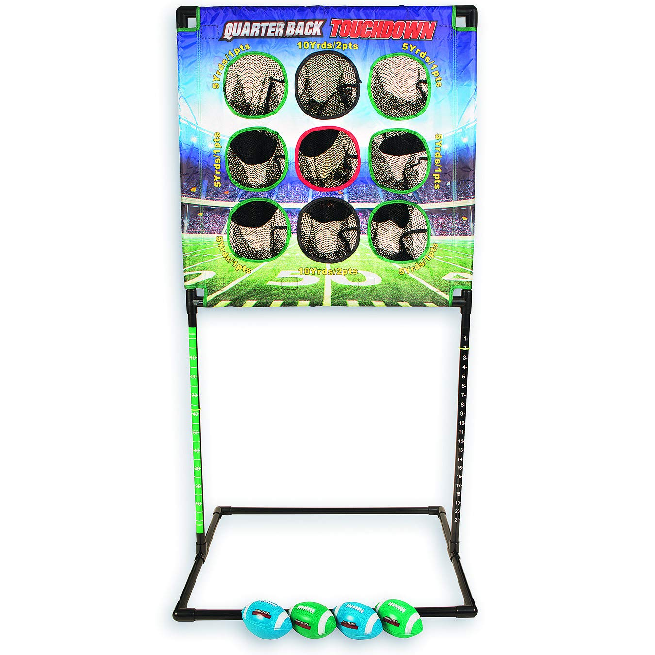 Tailgating and Parties Garage the Outdoor and Indoor Football Game for Everyone To Enjoy Portable Kid Agains QB01 Quarterback Touchdown Ideal for Playing Fun Games Easy To Set Up Camping Beach Back Yard