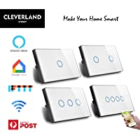 AU Approved Smart WiFi Light Switch Touch Panel for Downlight Google Home Alexa IFTTT (2 Gang WiFi Switch)