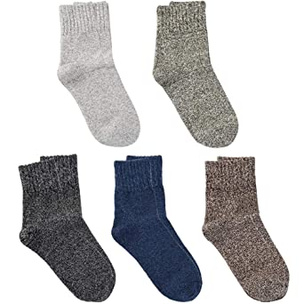 VBIGER Womens Knit Winter Socks Vintage Warm Long Crew Casual Socks 5 Pack at Amazon Womens Clothing store: