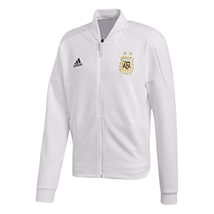 80aa7c4e804 Amazon.com : adidas 2018-2019 Argentina ZNE Knitted Anthem Jacket (White) :  Sports & Outdoors