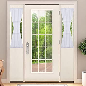 NICETOWN Sidelight Panel Curtains For French Door, Side Light Front Door  Curtain With Tieback,