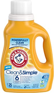 product image for Arm & Hammer Clean & simple liquid laundry detergent, 43.75 Fl Ounce