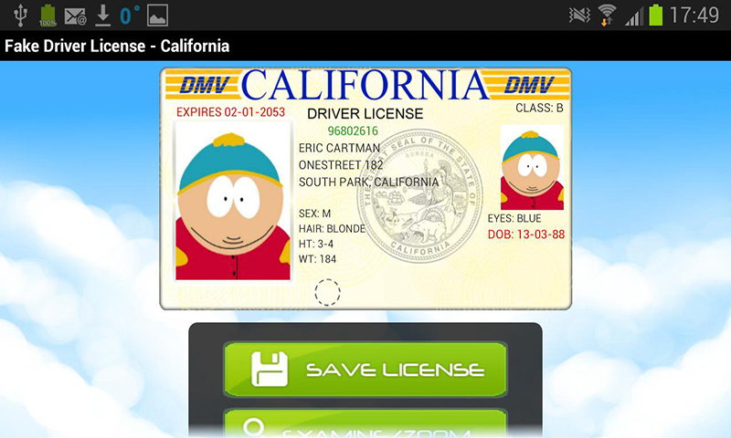 Amazon com: Fake Driver License Generator: Appstore for Android