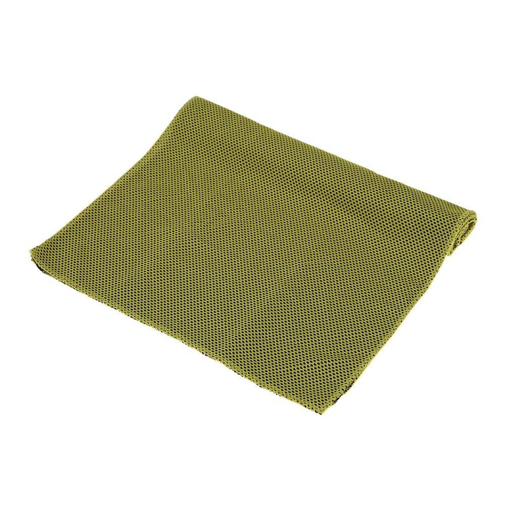 broadroot doble color deporte toalla absorción de agua de refrigeración al aire libre sudor manopla, amarillo