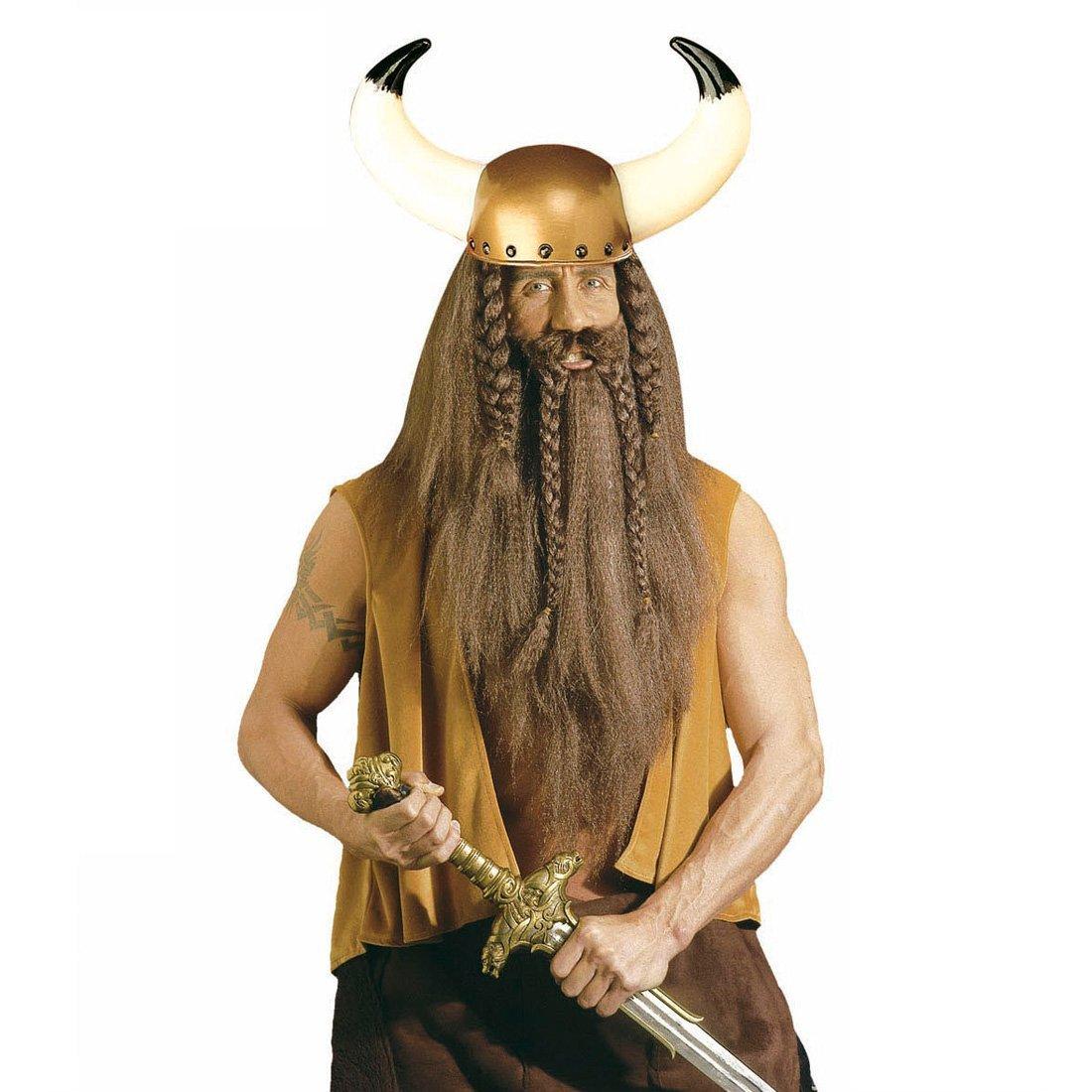 NET TOYS Casco de Vikingo con Cuernos Tocado bárbado alemán ...