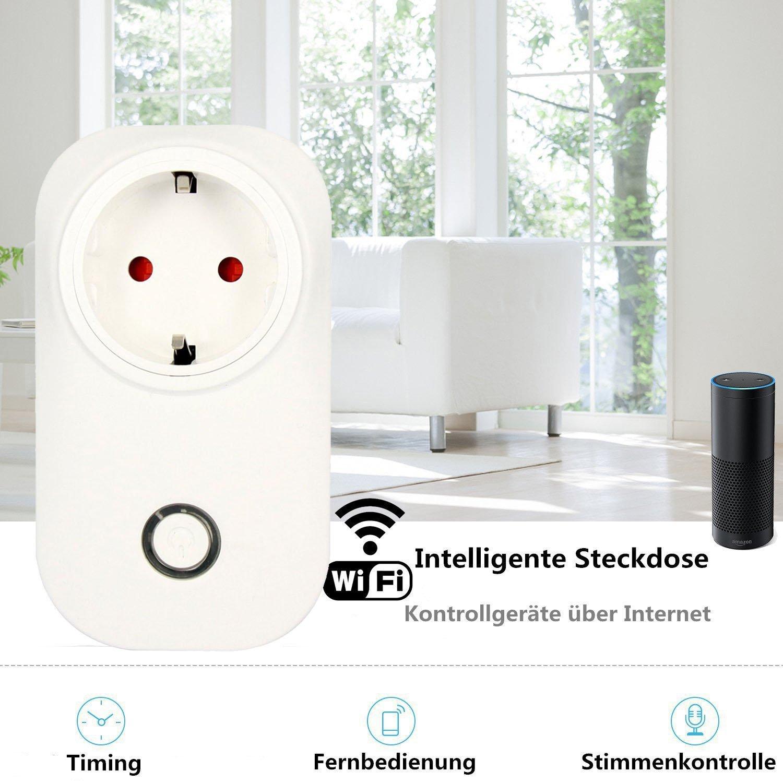 DoubleLucky intelligente WI-FI Steckdose(EU),funktioniert mit Amazon ...