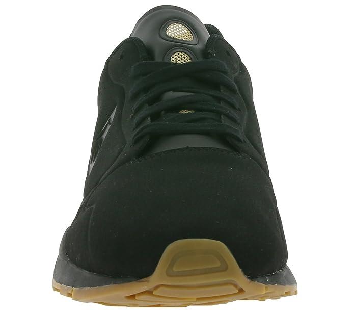 Le Coq Sportif Mens Black LCS R9XX S Nubuck Trainers: Amazon.co.uk: Shoes &  Bags