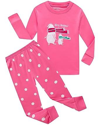 girls boys christmas pajamas bear cotton toddler clothes kids pjs children sleepwear size 3t