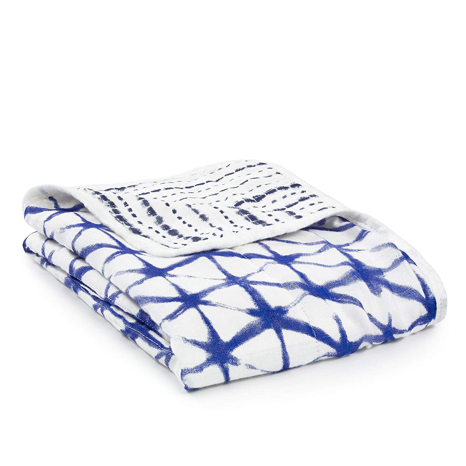 aden + anais silky soft swaddle, 100% viscose made from bamboo, 120cm X 120cm, azure beads 8949G