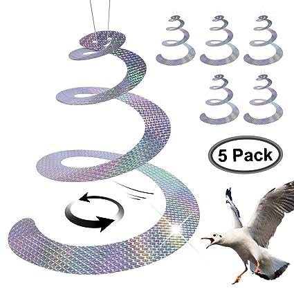 FDWOPHT Bird repellent,Efficient Spiral Bird Deterrent Device Reflect Light  to Scare birds Away, Repel Birds,New Bird contral Better than