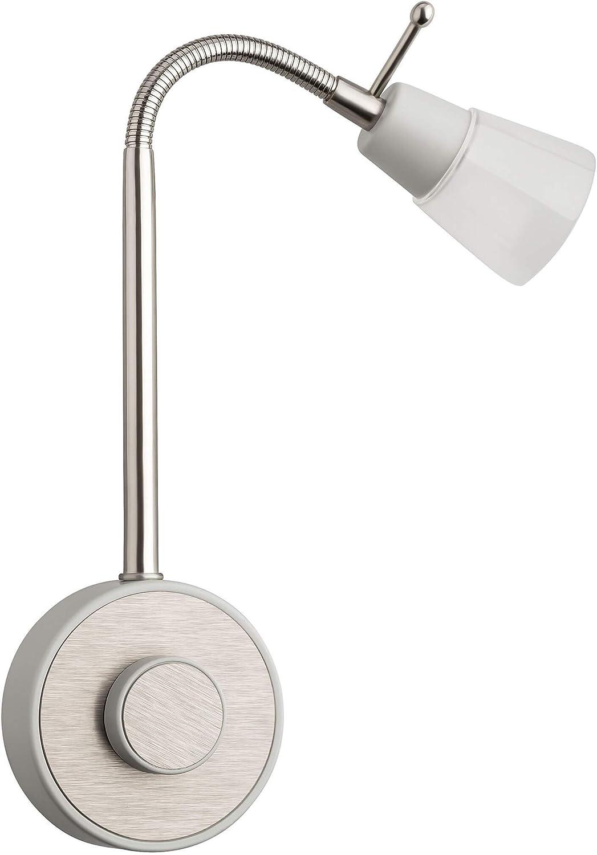 SEBSON® Lámpara enchufe LED regulable, Luz enchufe nocturna 2W, Luz Lectura Pared flexible