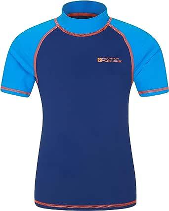 Mountain Warehouse Camiseta térmica de Manga Corta para niños - Camiseta térmica con protección Solar UPF50+, Camiseta térmica con Costuras Planas para niños