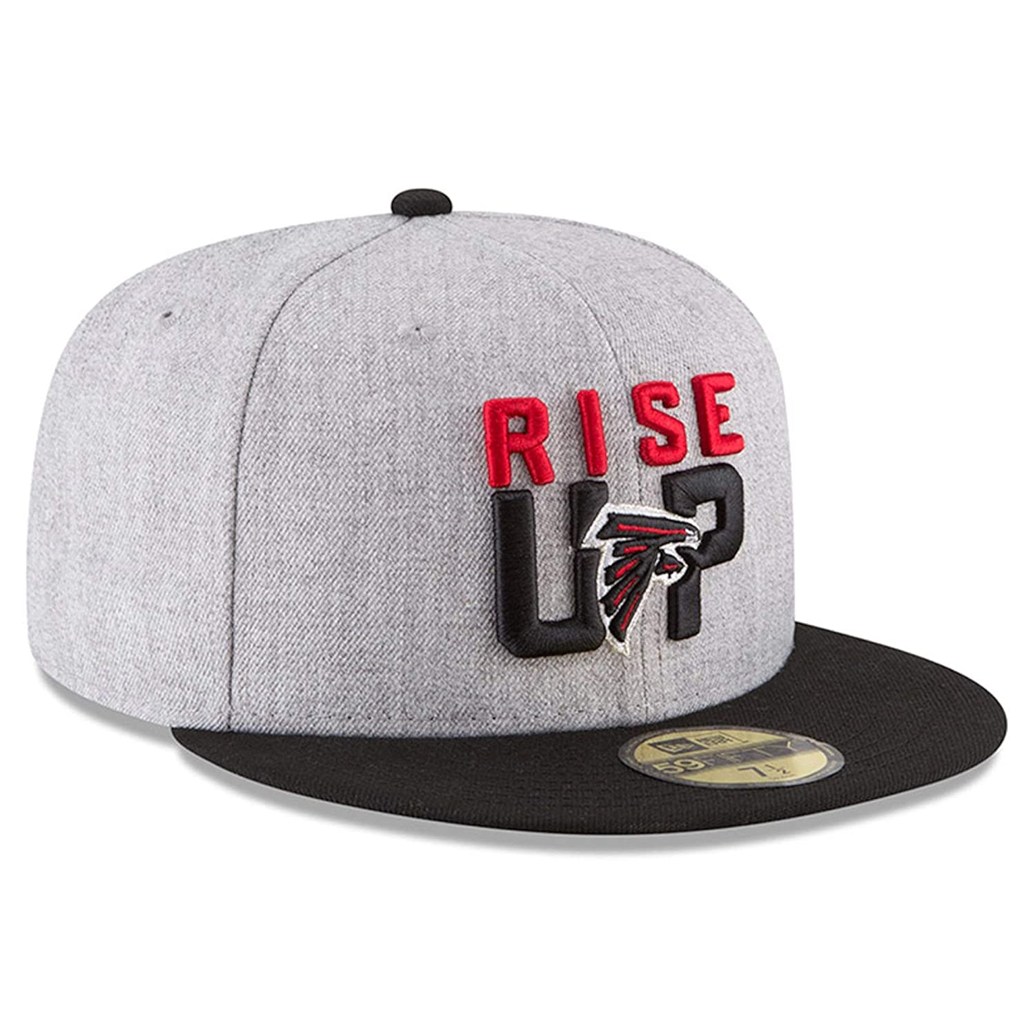 Amazon.com   New Era Atlanta Falcons Heather Gray Black 2018 NFL Draft  Official On-Stage 59FIFTY Fitted Hat   Sports   Outdoors 4f05f83b0
