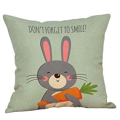 Amazon.com: Funda de almohada de algodón para Pascua, lino ...
