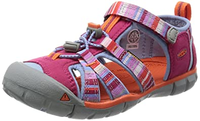 Keen Kids' Seacamp II CNX-C Sandal, Bright Rose Raya, 3 M US Little Kid