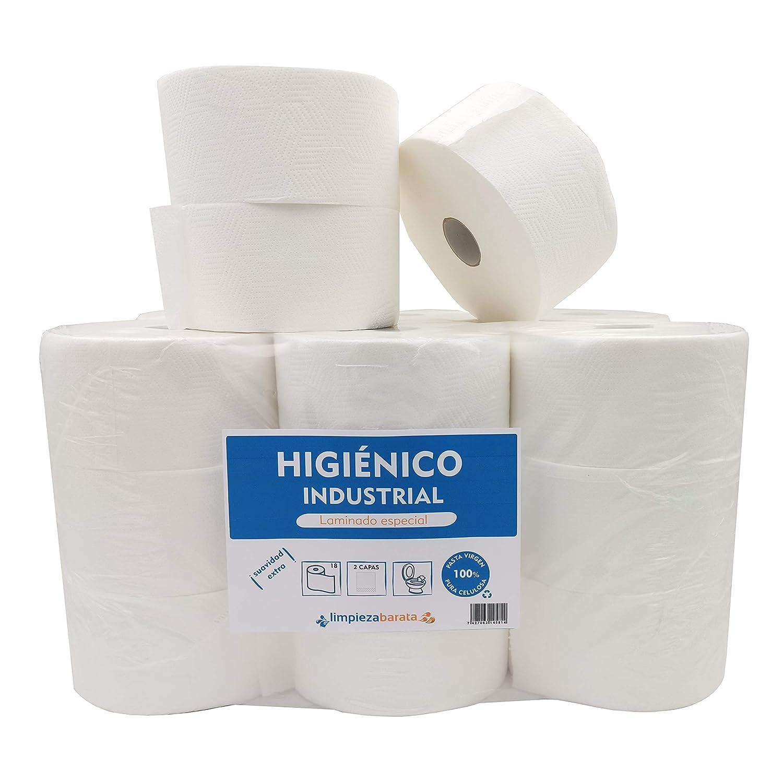 Papel Higienico Industrial Pasta Laminado (Pack 18 unidades)