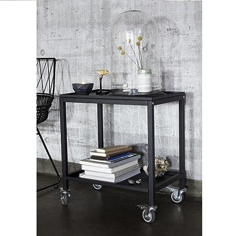 Wadiga Carrello portavivande Design in metallo nero: Amazon ...