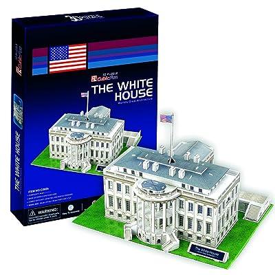 Ak Sport - Puzzle de 64 Piezas, diseño de casa en 3D, Color Blanco: Juguetes y juegos