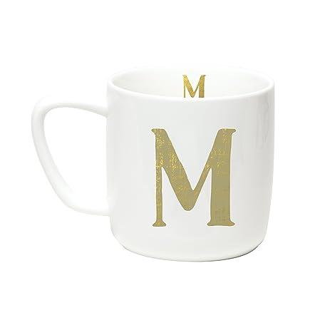 amazon com c r gibson 12 ounce porecelain monogram mug exterior