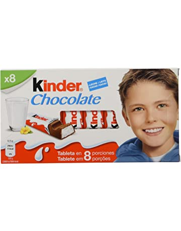 Kinder Chocolate Barritas de Chocolate con Leche - Pack de 8 x 12.5 g - Total