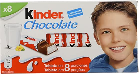 Kinder Chocolate - Barritas de Chocolate con Leche - 8