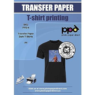 Photo Paper Direct Inkjet Papel Transfer en camisetas oscuros, DIN A4, 10 hojas: Electrónica