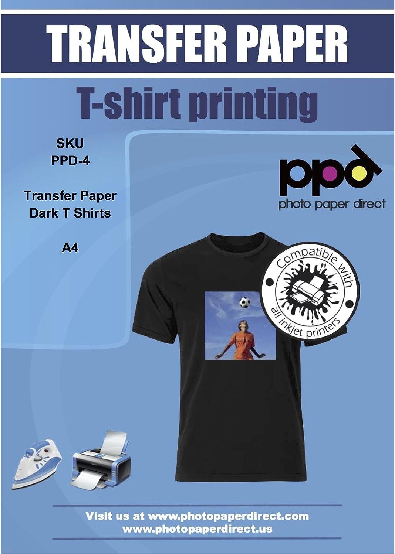 PPD A4 Papel De Transferencia Térmica Para Camisetas y Tejidos Oscuros, 200 Hojas - PPD-4-200
