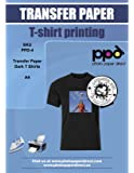 PPD Inkjet Iron-On Dark T Shirt Transfers Paper LTR 8.5x11 pack of 20 Sheets (PPD004-20)