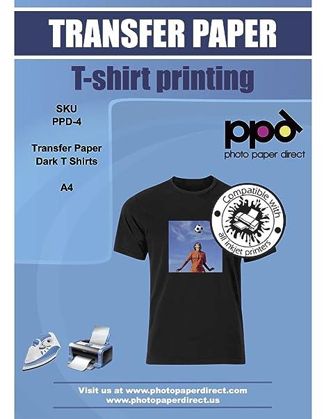 dc99d1a892 PPD A4 Carta di Trasferimento a getto d'inchiostro Per Magliette Di Colore  Scuro x