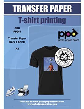 Ppd Inkjet T Shirt Transfer Paper A4 For Dark Fabric X 10 Sheets Ppd 4 10 by Ppd