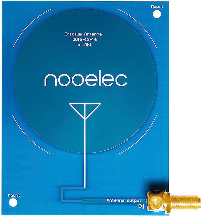 NooElec Iridium Patch Antenna - Antena PCB de alta ganancia (3dBi) 1620MHz con conector SMA para Iridium y otras aplicaciones de banda L. Frecuencia ...