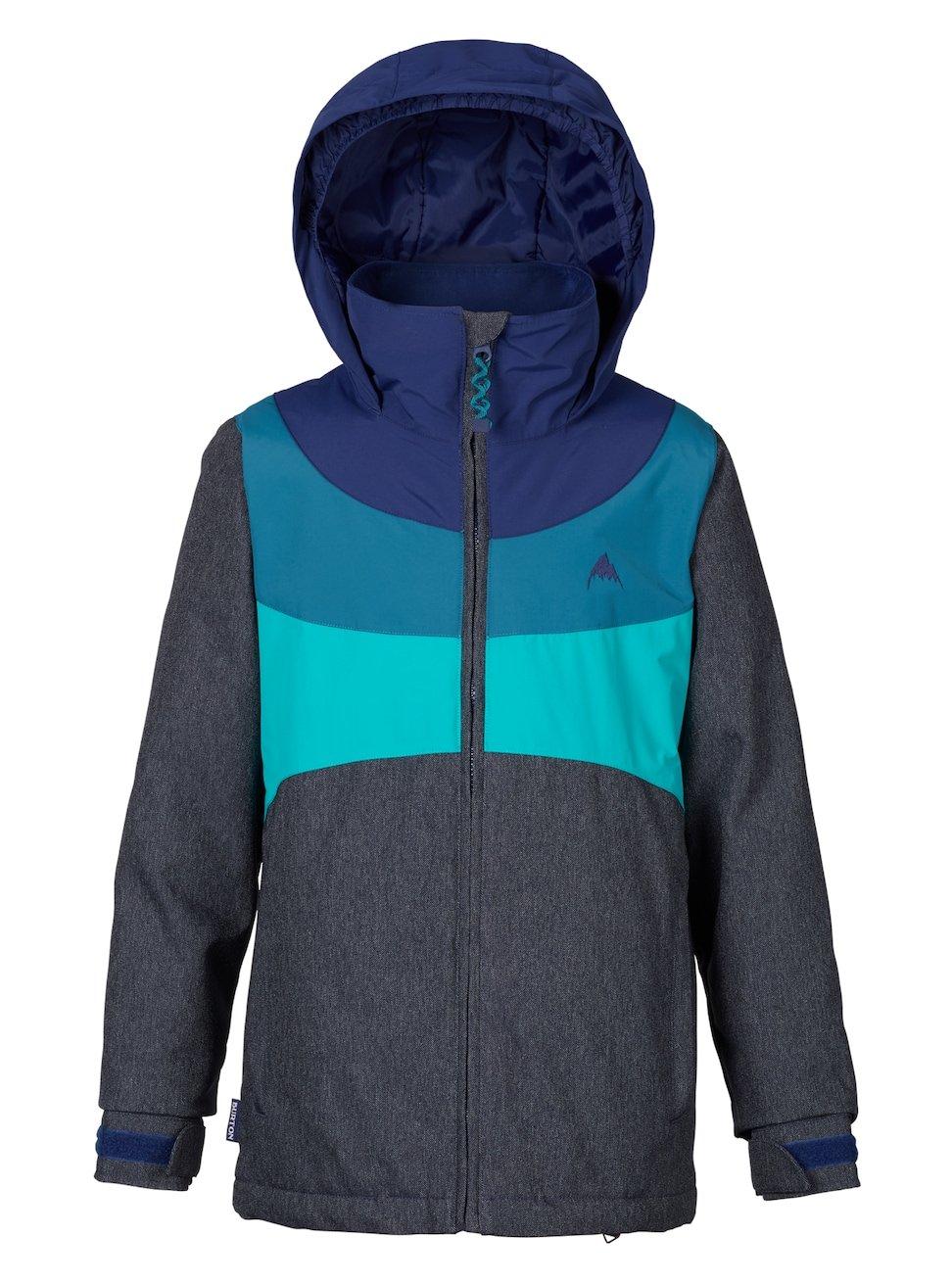 Burton Girls Youth Hart Snow Jacket Denim/Spellbound/Jaded Size Large by Burton