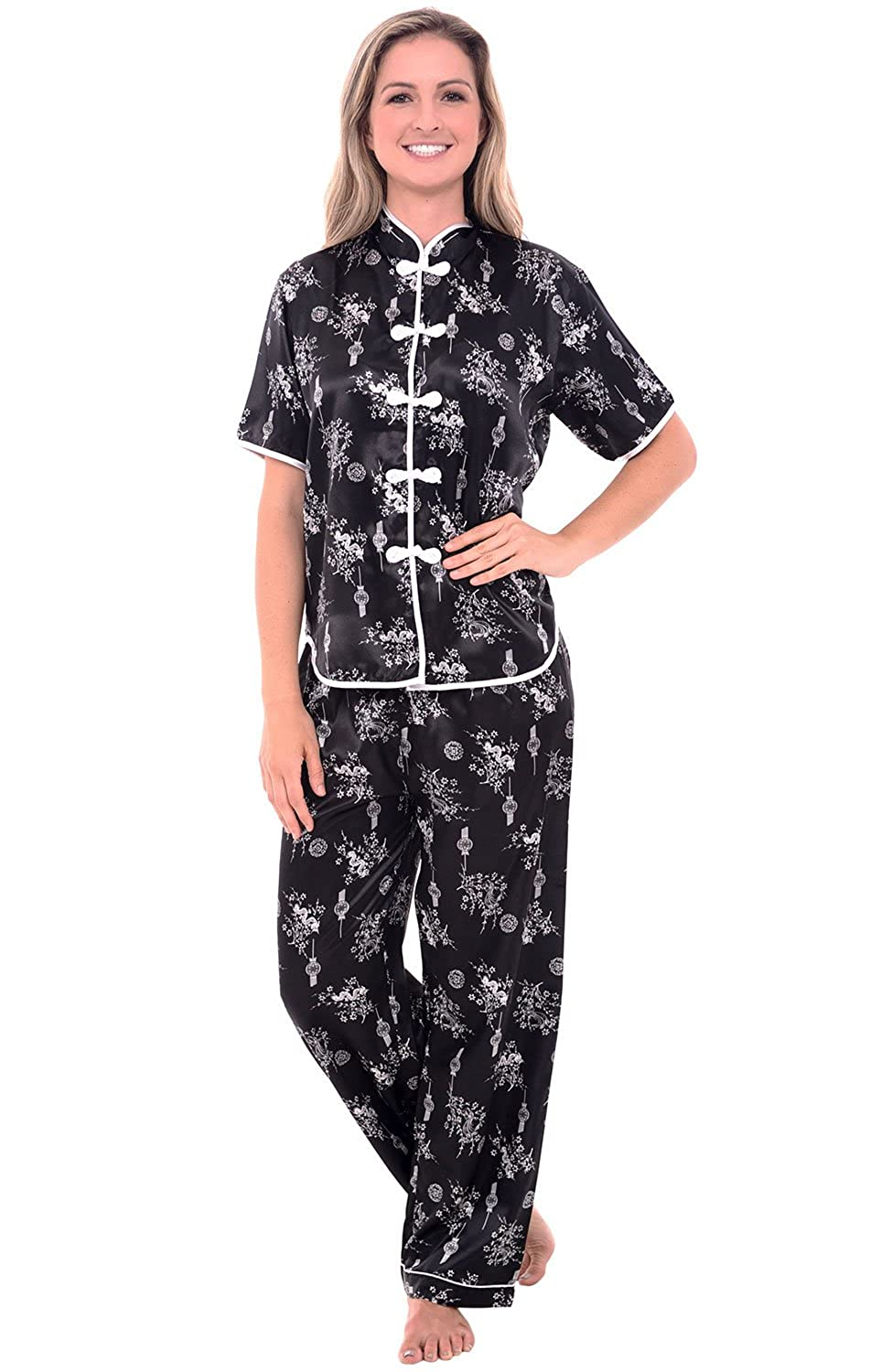 1920s Style Women's Pants, Trousers, Knickers  Chinese Inspired Pj Set $29.98 AT vintagedancer.com