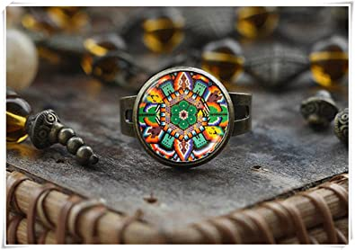 Japanese Art Bird Tibetan silver Dome glass Art Photo Chain Pendant Necklace