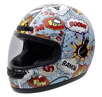 NZI 050323G710 Activy Junior Boom Casco De Moto, Multicolor, Talla 54 (XS)