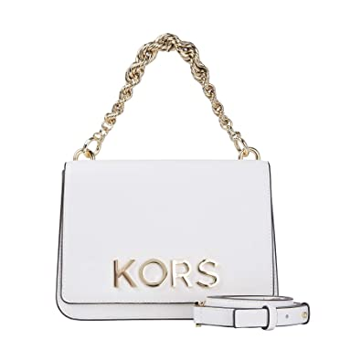 48486a74a615b6 Image Unavailable. Image not available for. Color: MICHAEL Michael Kors Mott  Large Embellished Leather Crossbody Bag ...