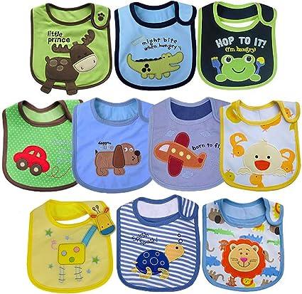 Yafane Lot de 12 Bavoirs B/éb/é Imperm/éables Coton Bandana pour Enfant B/éb/é Fille 0 /à 36 mois
