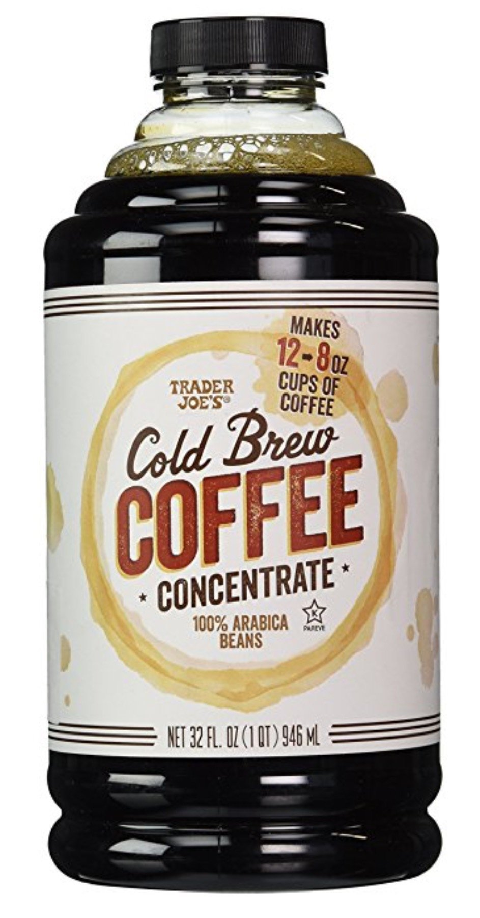 Trader Joe's Cold Brew Coffee Concentrate 100% Arabica Beans 32 fl. oz. (Pack of 2)